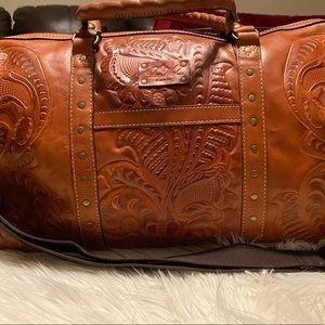 Patricia Nash Weekender Tooled Duffle Bag New